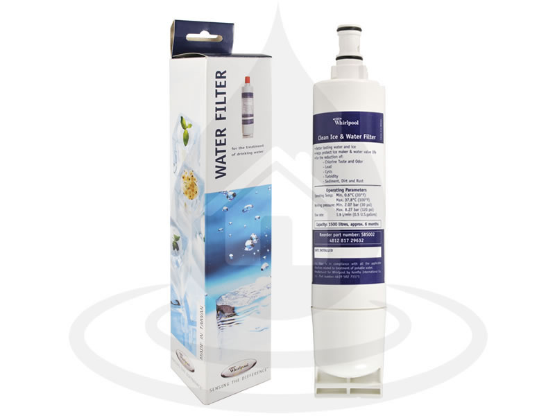 sbs001 filtro whirlpool  SBS002 x1 (4812 817 29632) Whirlpool Filtro acqua Frigorifero ...